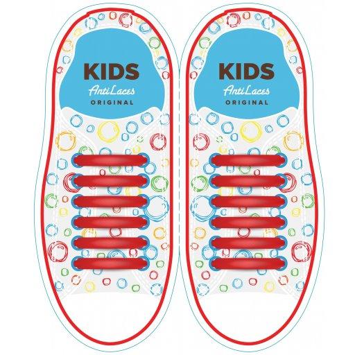 Силиконовые антишнурки AntiLaces Kids Красный 38мм //