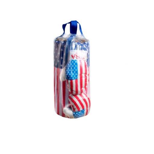 """Боксерская груша детская, перчатки, набор """"Америка"""" великий (1)"""