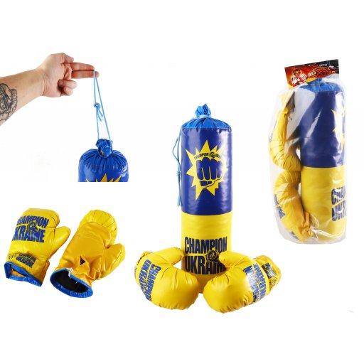 Боксерская груша детская, перчатки, набор средний в пакете