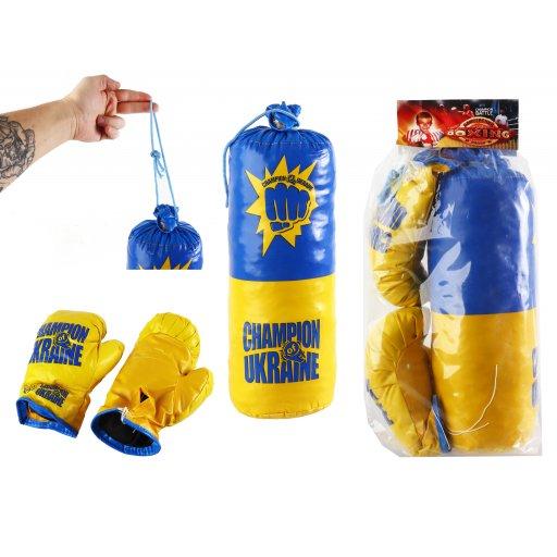 Боксерская груша детская, перчатки, набор мини в пакете