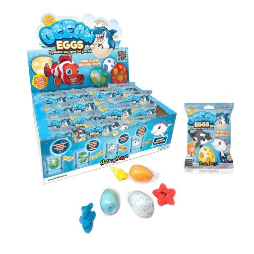 Іграшка, що зростає, в яйці «Ocean Eggs» - ПОВЕЛИТЕЛІ ОКЕАНІВ І МОРІВ (в асорт., в диспл.)