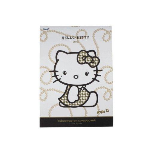 Гофрокартон цветн. (10л/10цвет.) A4 Hello Kitty D /1/100