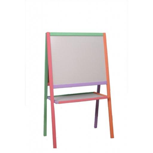 Доска 2-сторонняя д/рисования 4 ноги, Магнит, цвет. сосна, 110*65*55см