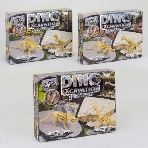 """Набір для проведення розкопок """"DINO EXCAVATION набор для проведения раскопок"""" динозаври укр (6)"""