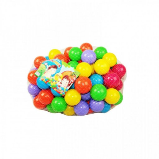 Шарики (мячики) для сухого бассейна (пластиковые), диаметр 6см, 100 штук в сетке МЗ
