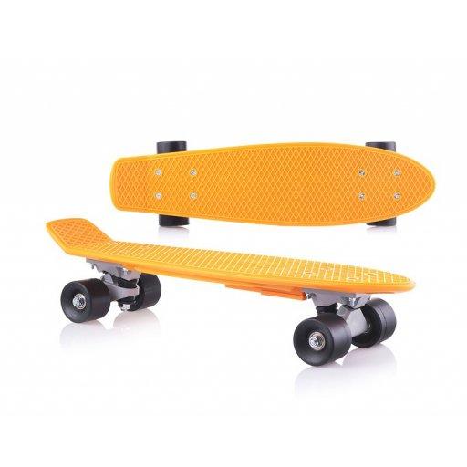 Скейт детский Оранжевый в пакете PVC колеса, Фламинго //