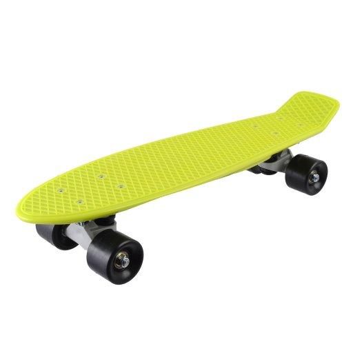 Скейт детский Зеленый в пакете, PVC колеса Фламинго //