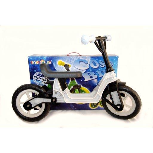 """беговел велобег, 10"""" EVA колеса Белый (Cosmo bike) КВ"""